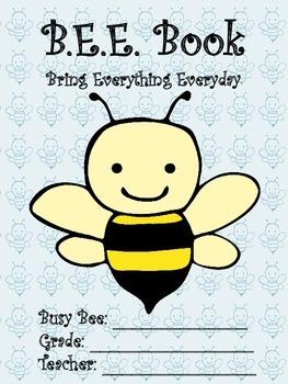 BEE Book Bring Everything Everyday Student Binder Organize