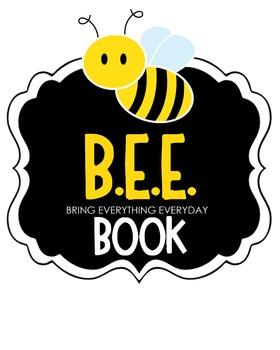 B.E.E. Book Clipart (yellow)