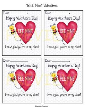 """""""BEE Mine"""" Valentines"""