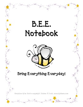 BEE Notebook Cover Page