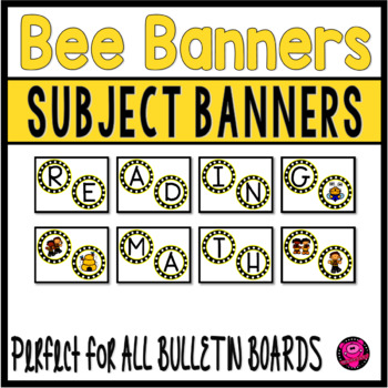 BEES SUBJECTS BANNERS