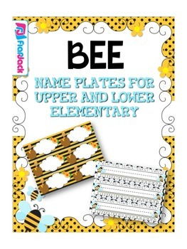 BEE Themed Name Tags Plates