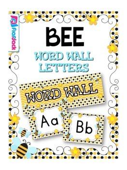 BEE Themed Word Wall Alphabet
