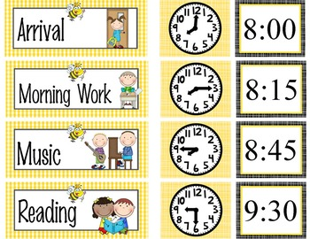 BEES - Schedule Cards / editable MS WORD / Illustrated