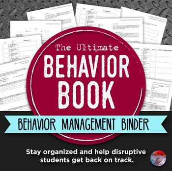 BEHAVIOR BOOK - Middle & High School Behavior Management Binder