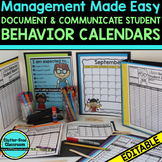 BEHAVIOR CALENDARS AND TRACKING SHEETS for CLASSROOM MANAG