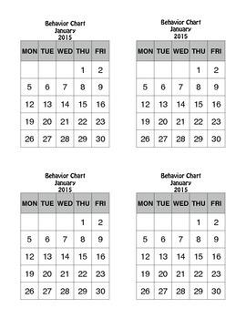 BEHAVIOR CHARTS 2014-15