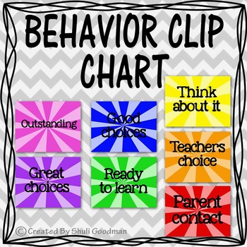 BEHAVIOR CLIP CHART - pink on top