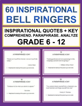 """BELL RINGER: """"A Paraphrase a Day"""" 60 Inspirational Quotes"""