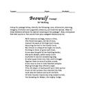 BEOWULF - AP Writing Passage