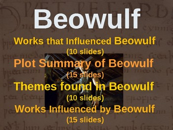 BEOWULF - (PART 1: WORKS THAT INFLUENCED BEOWULF) visual,