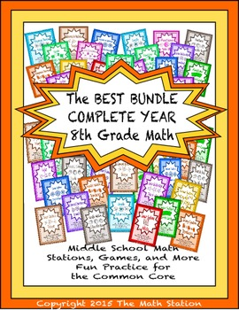 BEST BUNDLE COMPLETE YEAR Math Stations for Common Core Ei