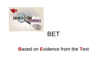 BET--Based on Evidence from the Text