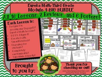 BIG BUNDLE Module 4 Eureka Math Third Grade