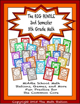 BIG BUNDLE Second Semester Math Stations for Common Core E
