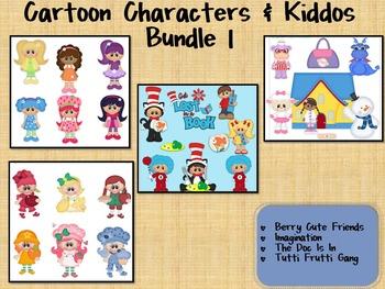 BIG Clipart Bundle ~Cartoon Characters & Kiddos I ~ Seuss,