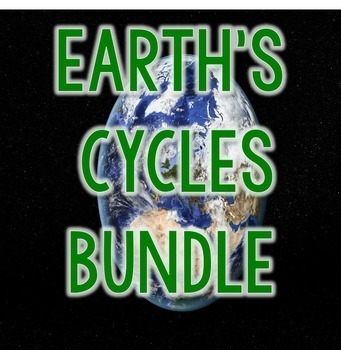 Earth Cycles Science Interactive Notebook, Worksheets, & Crafts