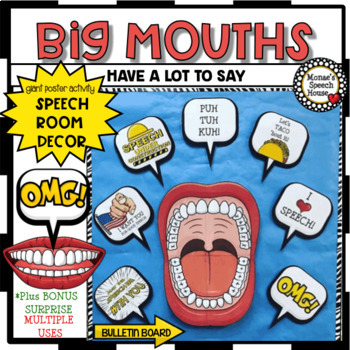 BIG MOUTH POSTER Speech Therapy