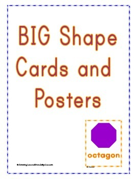 BIG Shape Cards and Posters
