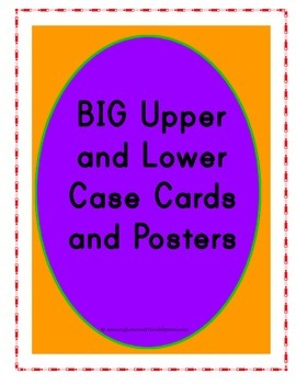 BIG Upper and Lower Case Cards and Posters