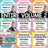 BIGGEST & BEST Mentor Sentence Bundle Volume 2 for Grades