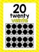 BILINGUAL English-Spanish Ten Frames Posters 0-20 (White a