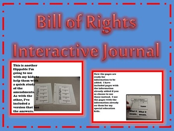BILL OF RIGHTS Interactive Journal and Study Guide