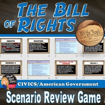 BILL of RIGHTS Scenario Review Game - Civics