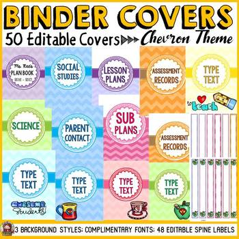 BINDER COVERS: EDITABLE