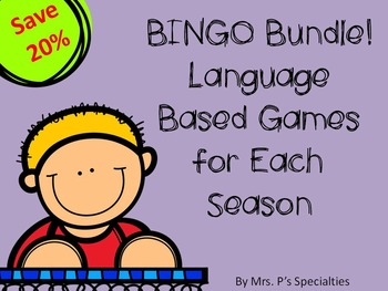 BINGO BUNDLE! Language Based Games for Each Season