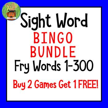 BINGO Bundle! Fry Words BINGO Games Set 1, 2, & 3 {Buy 2 G