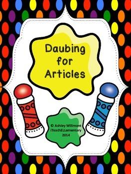Daubing for Articles (A BINGO daubing activity!)
