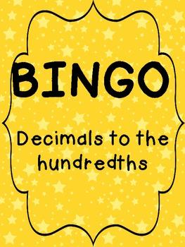 BINGO! Decimals to the Hundredths