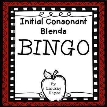 BINGO: Initial Consonant Blends
