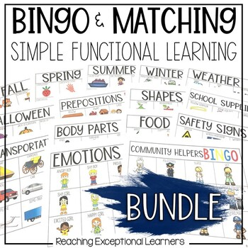 BINGO & Matching Games BUNDLE designed for Special Education