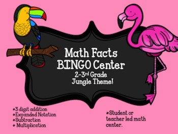 BINGO Math Center 2nd-3rd grade