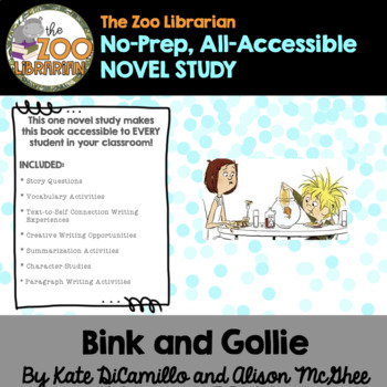 Bink and Gollie by Kate DiCamillo (CCSS aligned unit study)