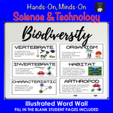 BIODIVERSITY Illustrated Word Wall Vocabulary Cards (Grade