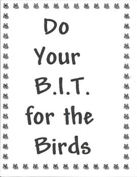 BIRD B.I.T.: Do your BIT for the Birds!