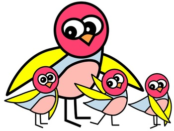 BIRD CLIP ART 10 * COLOR AND BLACK AND WHITE