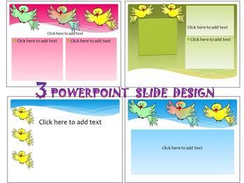 Valentine's Day - Birds - 3 Editable PowerPoint - slide de