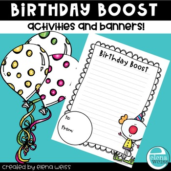 BIRTHDAY WRITING ACTIVITIES to boost self esteem
