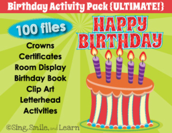 BIRTHDAY ACTIVITY PACK {Ultimate!}