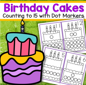 Dot Markers BIRTHDAY CAKE Numbers