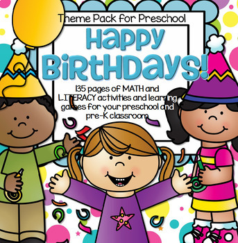 BIRTHDAYS Theme Math and Literacy Centers and Activities f