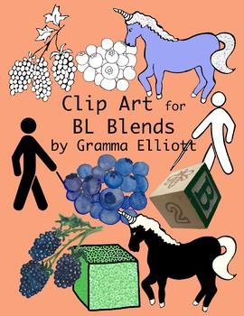 BL Blends Clip Art in Color and Black Line - 300 dpi .png