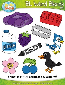 BL Word Blends Clipart Set — Includes 20 Graphics!