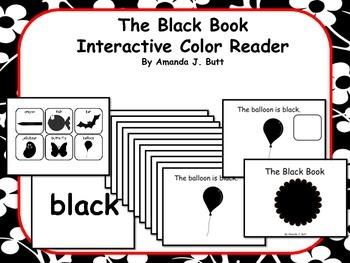 BLACK Interactive Color Sight Word Reader; Kindergarten; S