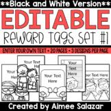 BLACK & WHITE Brag Tags {Editable Set #1}