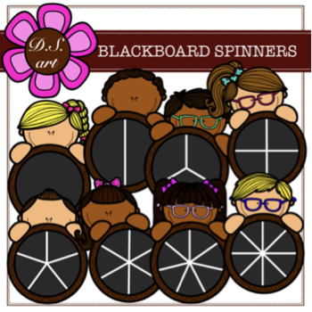 BLACKBOARD SPINNERS Digital Clipart (color and black&white)